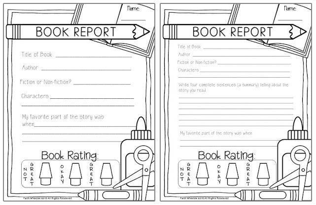 Fabulous Book Report Freebie (2 Versions)!