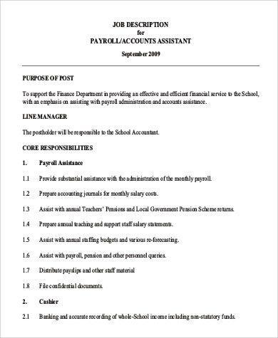 Payroll Job Description. Checkout Job Description System: Using ...
