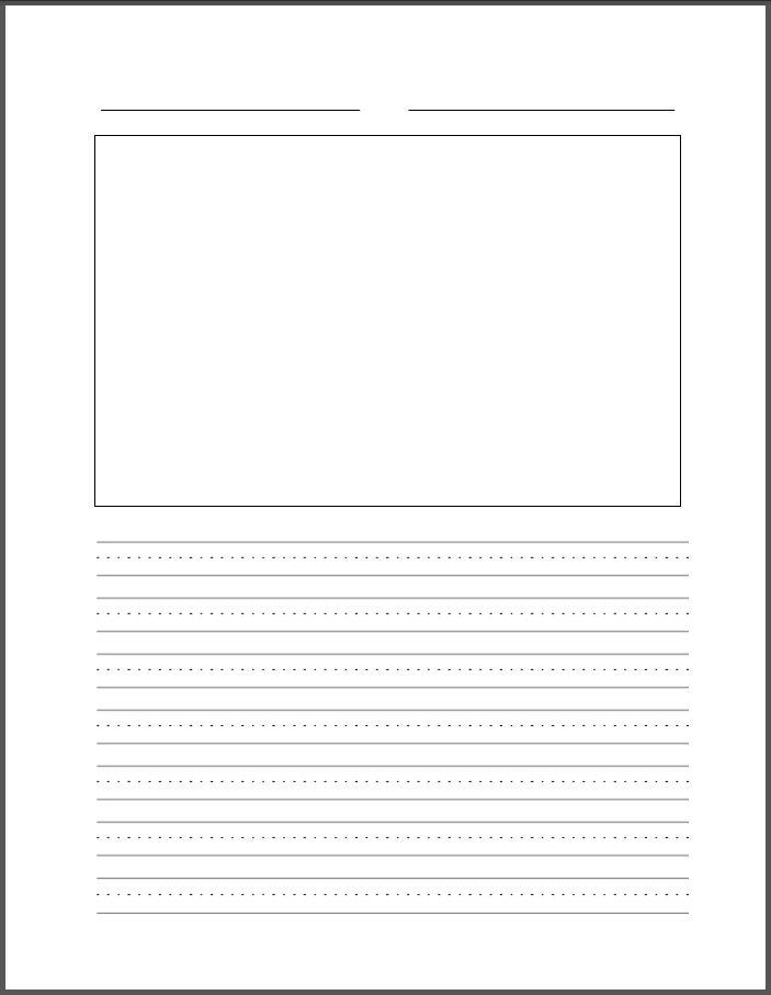 Blank Writing Template : Selimtd
