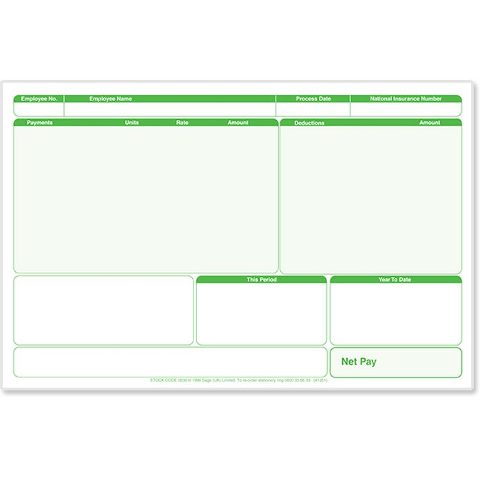 Sage Payslip Plus | Stationery | Sage Store
