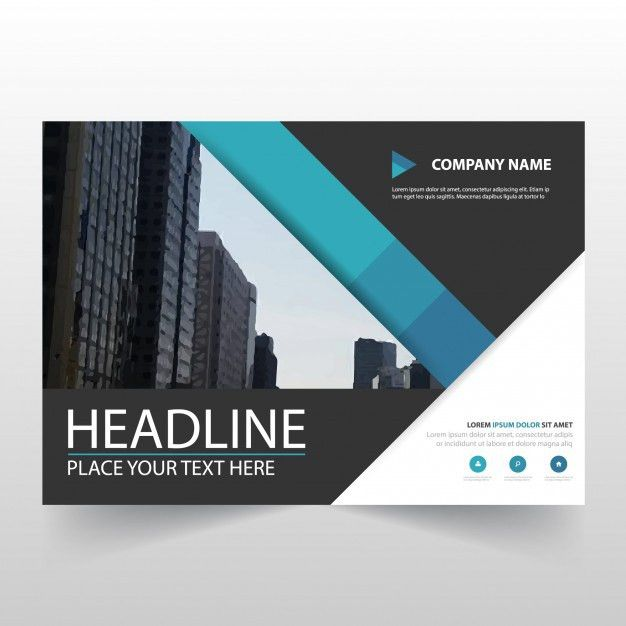 Blue horizontal business flyer template Vector | Free Download
