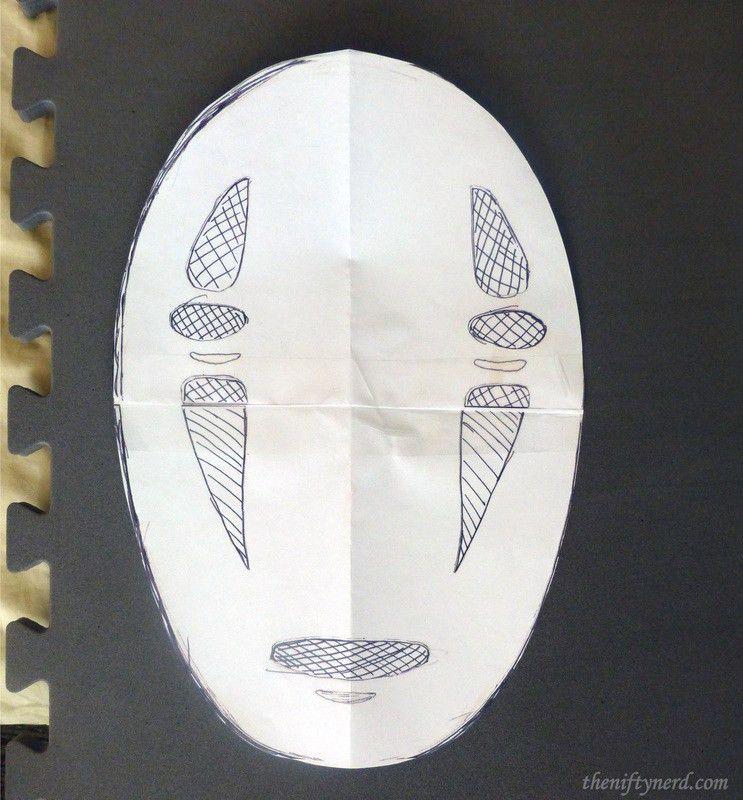 No Face mask template   DIY   Pinterest   Mask template, Costume ...