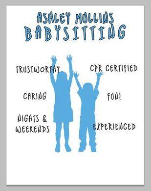 How To: Make a Babysitter Flyer - Printaholic.com