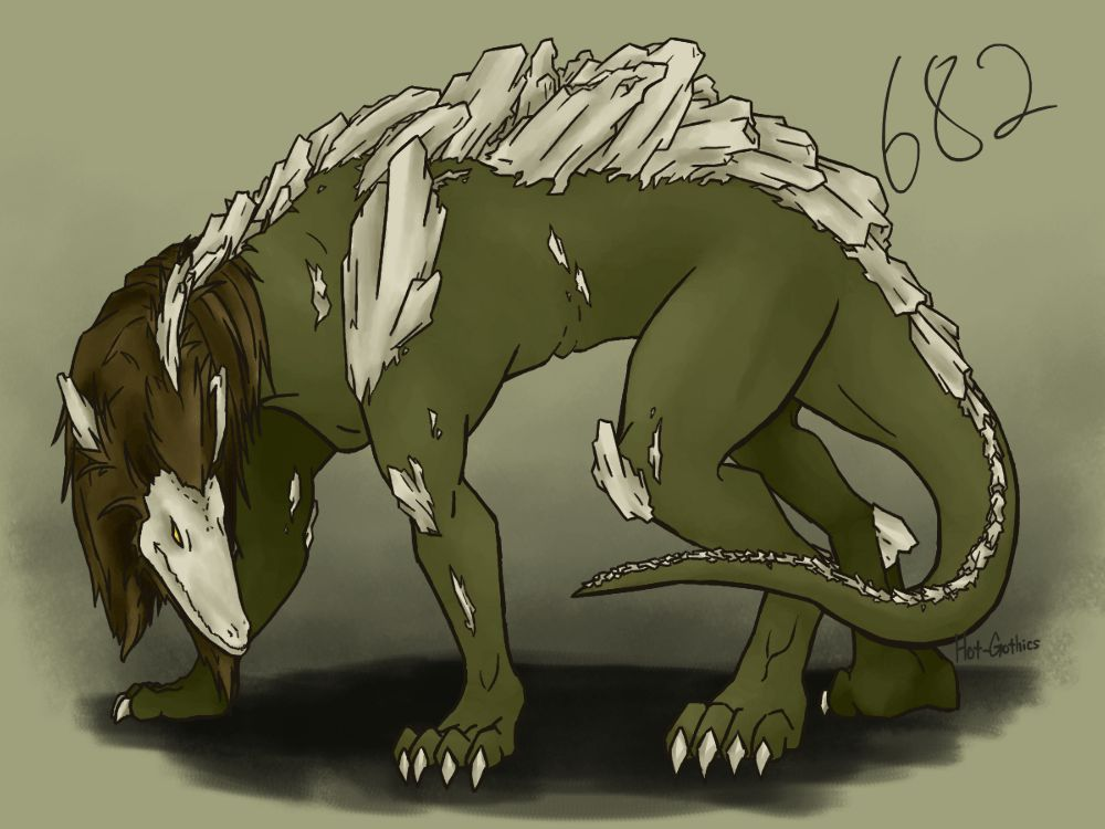 SCP-682 Concept by Hot-Gothics on DeviantArt