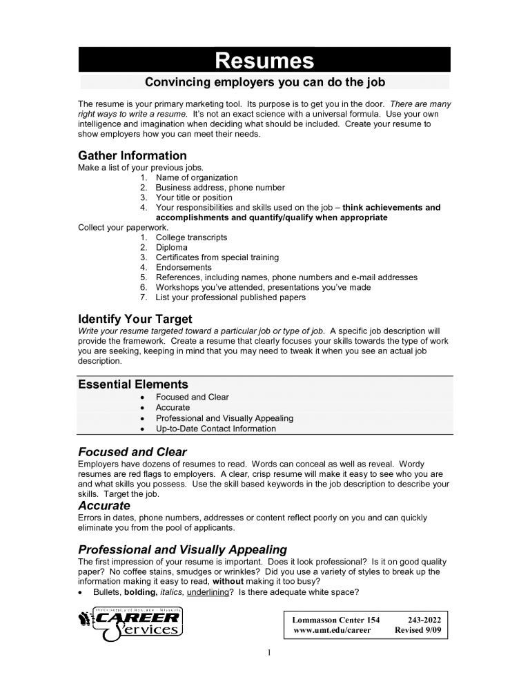 how to build a perfect resumes