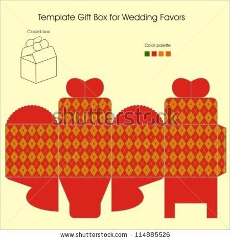 chocolate boxes template | Template Gift Box For Candy Stock ...