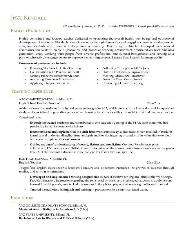 Example Of A Well Written Resume. 57 Best Career-Specific Resumes ...