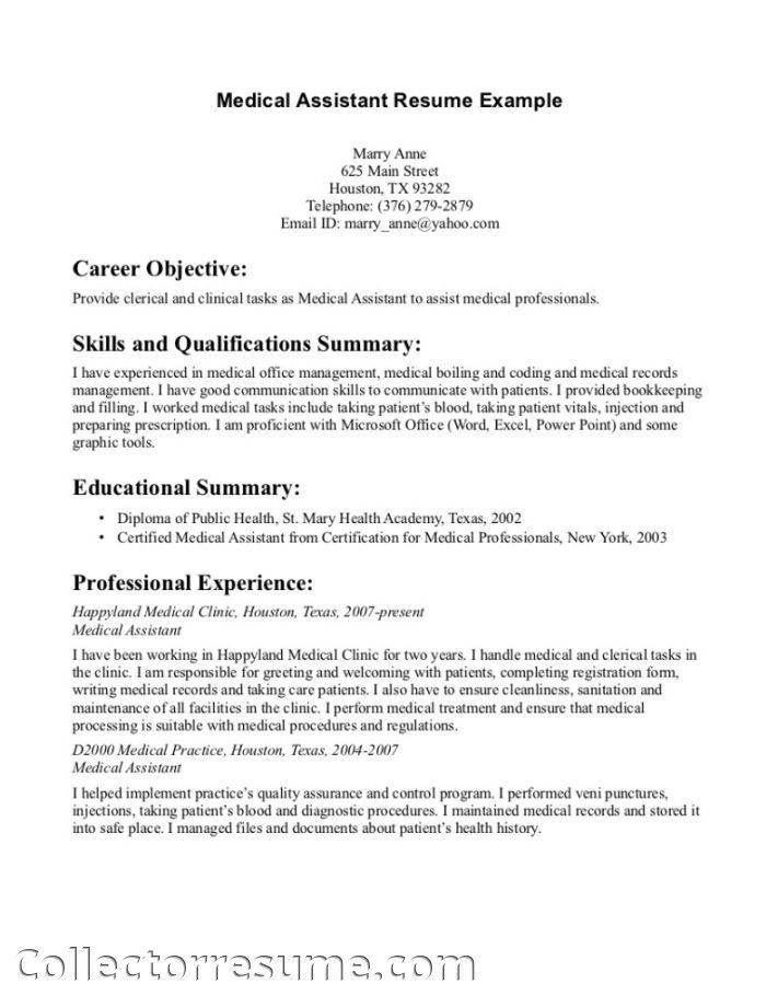 Medical Assistant Resume With No Experience | berathen.Com