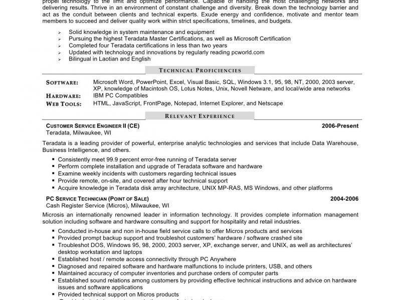 It Field Engineer Sample Resume | haadyaooverbayresort.com