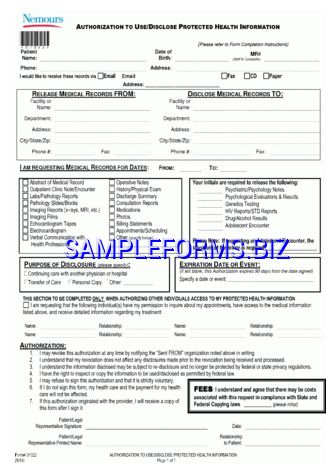 Delaware Medical Records Release Form templates & samples