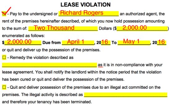 Free Eviction Notice Forms   Notice to Quit   Process and Laws ...