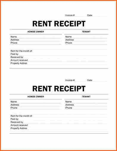 9+ printable rent receipts - Budget Template Letter
