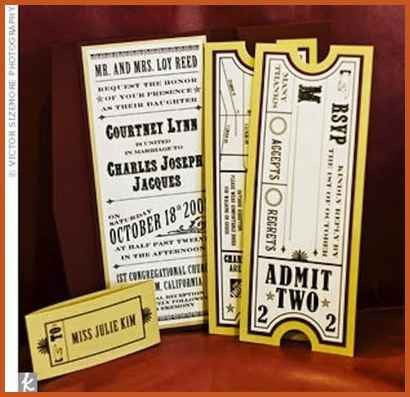 movie ticket invitations | sop example