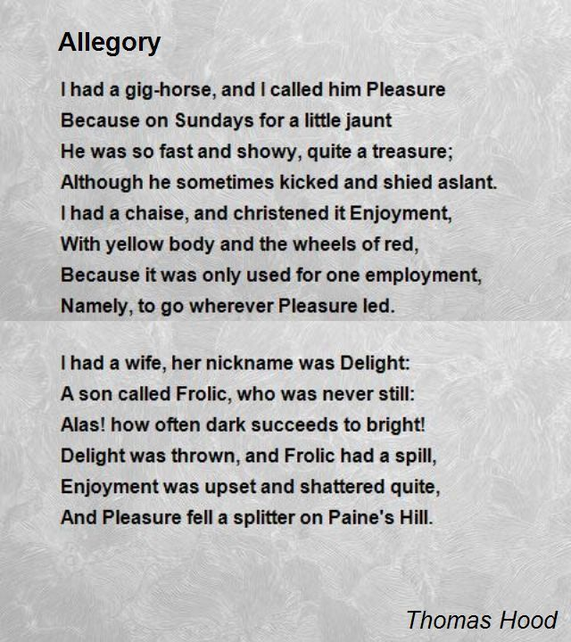 Allegory Poem by Thomas Hood - Poem Hunter