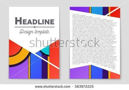 Abstract Vector Layout Background Set Art Stock Vector 568975327 ...