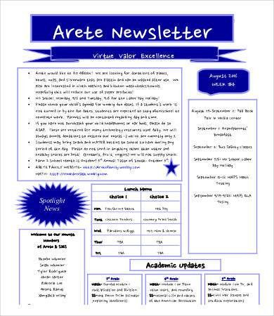 Newsletter Format - 8+ Free Word, PDF Documents Download | Free ...