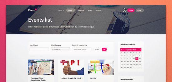 JA Events II - Best responsive Joomla Events template | Joomla ...