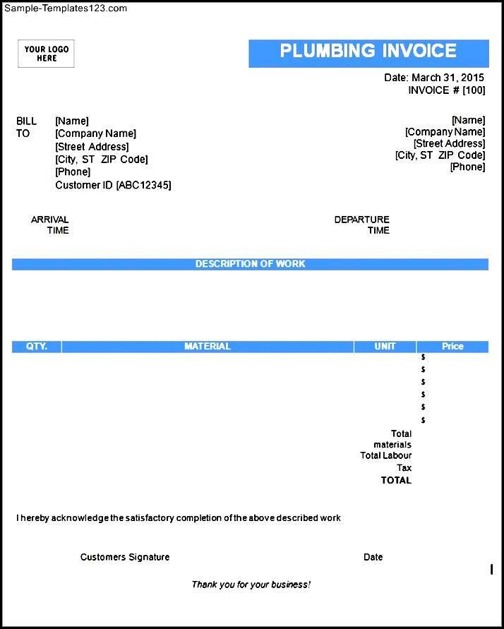 Download Plumbing Invoice Template | rabitah.net