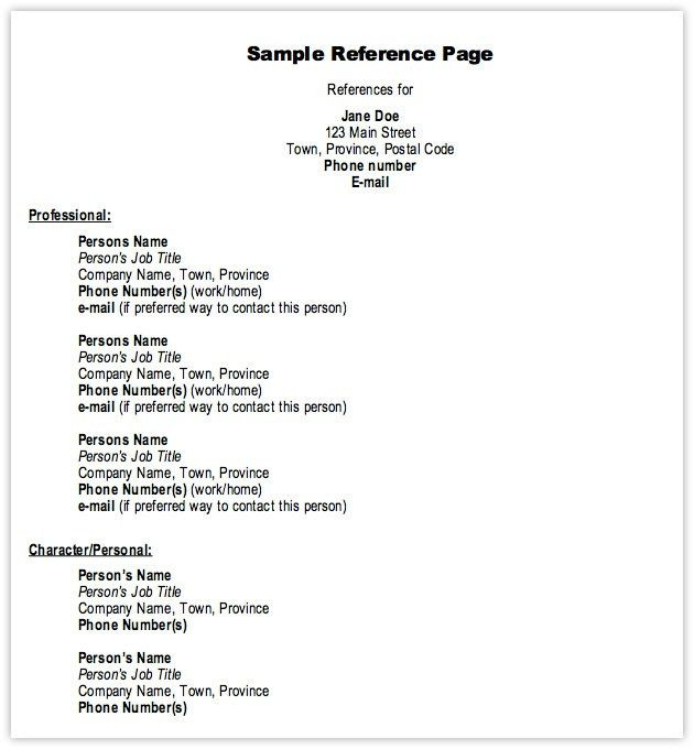 reference list template free for resume of references 28p mdxar ...