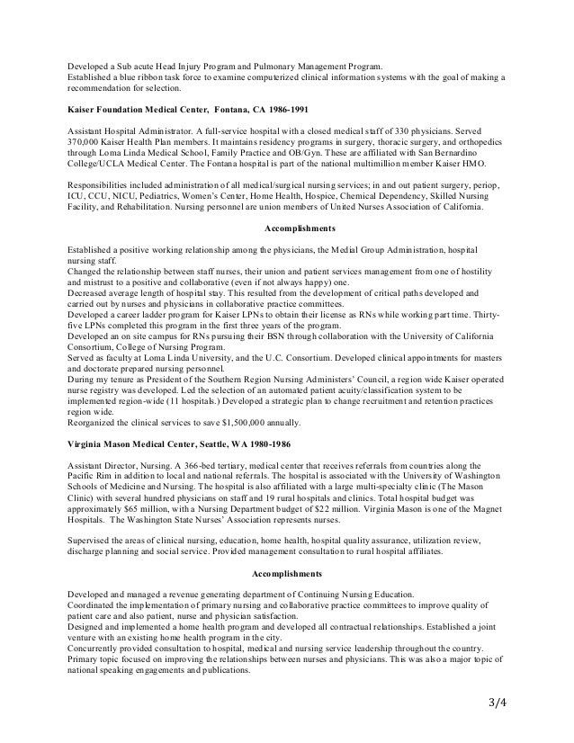four page resume Mar 3 2015