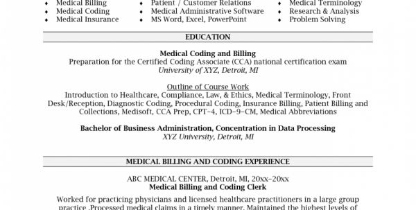 Medical Billing And Coding Resume Objectives Medical Billing and ...