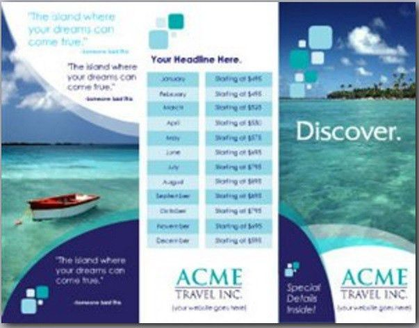 8 Free Cruise Brochure Templates – Bates On Design