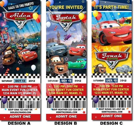 Disney Cars Invitations Templates Free 5 | Party invitations ...