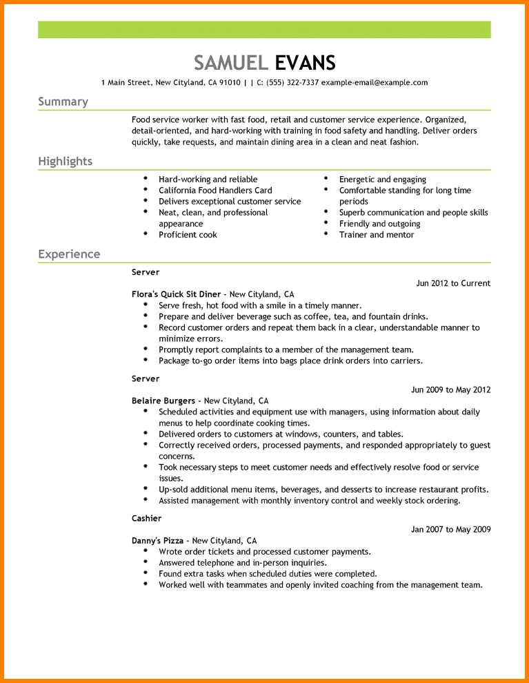 10+ examples of resumes | resume reference