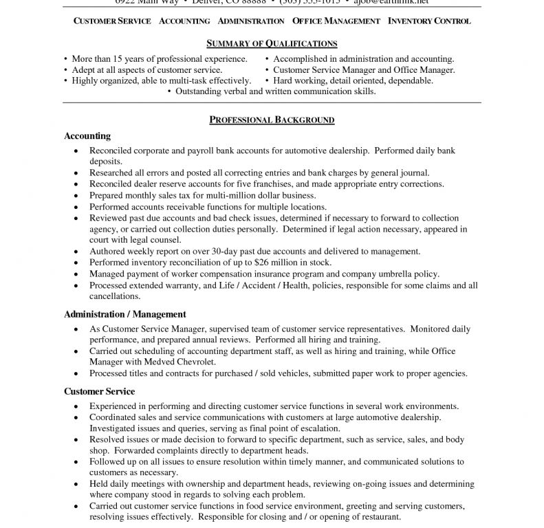customer service resume objective examples resume sample sales