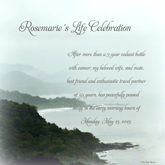 celebrate Rosemarie's Life, Online Invitations & Cards by Pingg.com