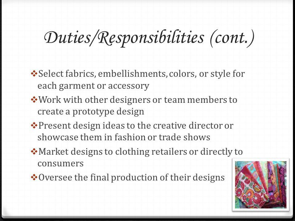 Fashion Career Facts Kayla Graves. Required Education and Training ...
