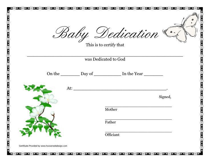 13 best church certificates images on Pinterest | Baby dedication ...