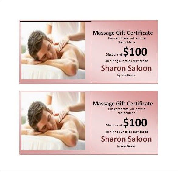 7+ Massage Gift Certificate Templates – Free Sample, Example ...
