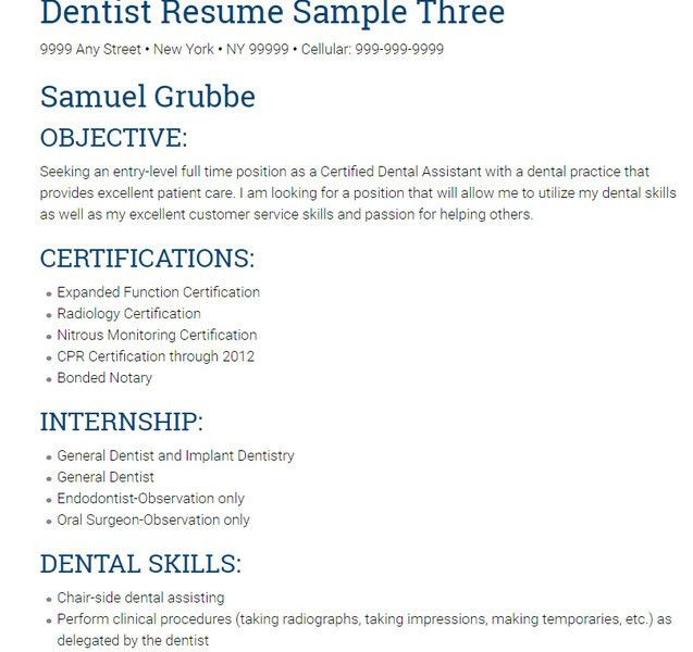 sample dental assistant cover letter for resume sample certified ...