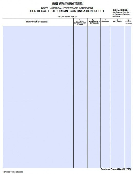 Free General Customs Commercial Invoice Template | Excel | PDF ...