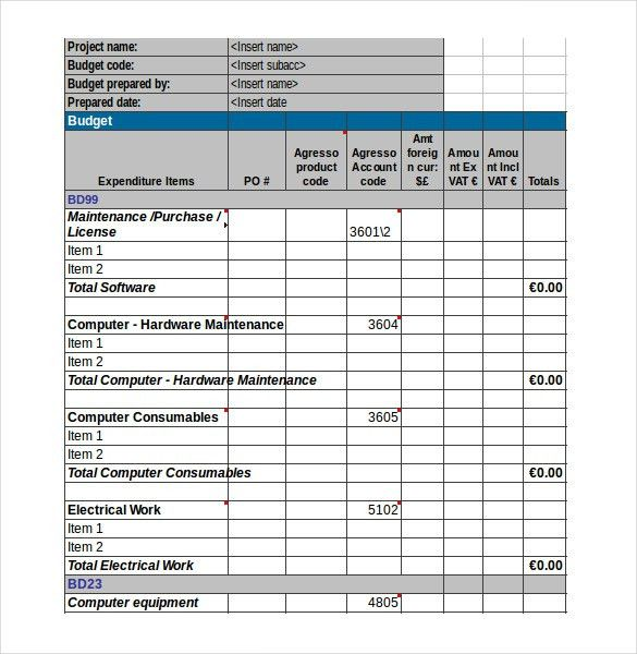 Expenditure Budget Template – 8+ Free Word, Excel, PDF Documents ...