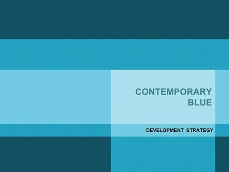 Contemporary Blue PowerPoint Template