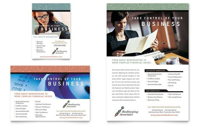 Bookkeeping & Accounting Services Flyer & Ad Template Design