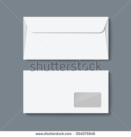 Envelope Mock Up Realistic Vector Illustration Stock Vector ...