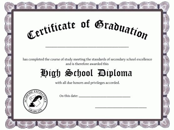 5+ High School Diploma Templates Free Download!!