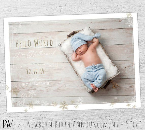 Birth Announcement Template Baby Boy Birth Announcement
