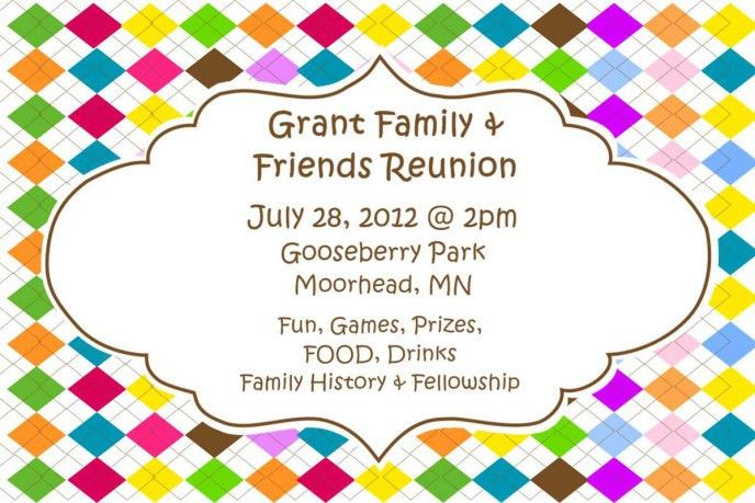 Colorful Reunion invitation with Wording : emuroom