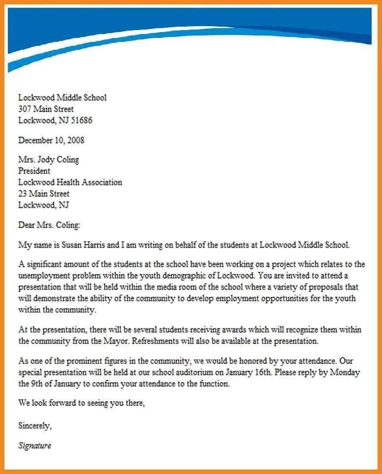 invitation letter template | art resume examples