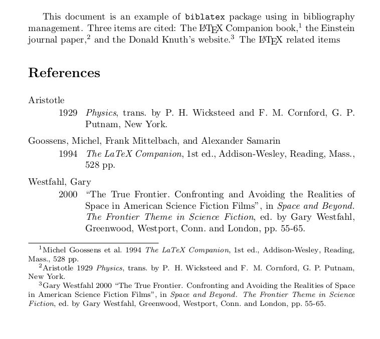 biblatex - Different styles in footnote and bibliography - TeX ...