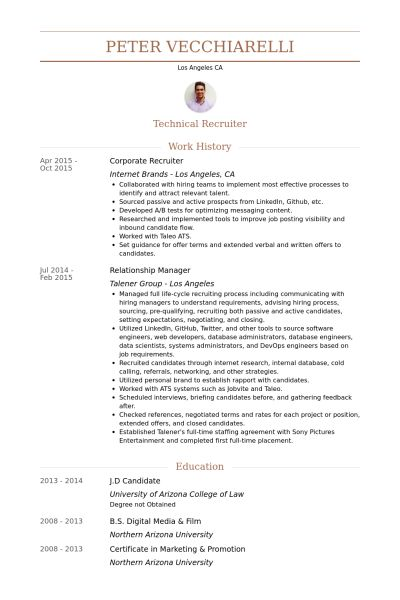 example cover letter to executive recruiter resume examples ceo ...