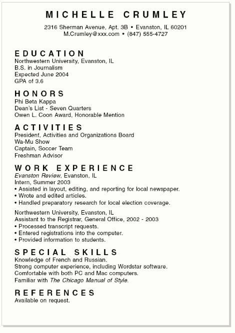Work Resume For College Student - Best Resume Collection
