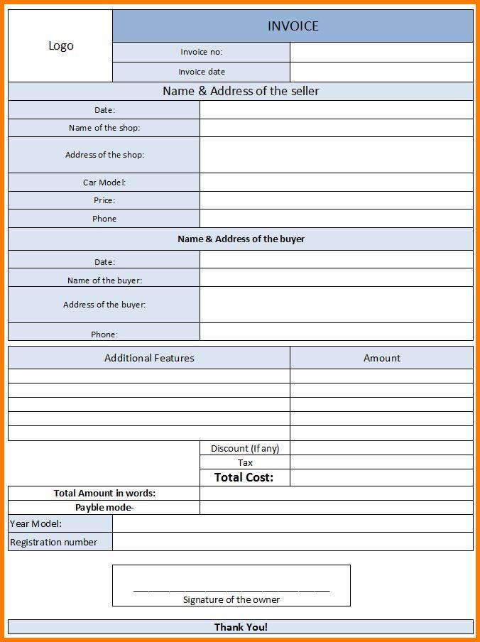 7+ Invoice Template | Receipt Templates