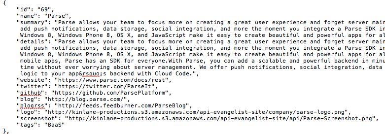 Simple API Example: Company Listing