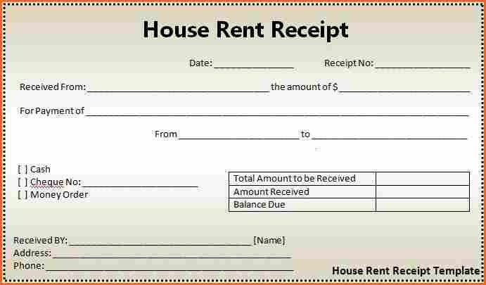 9+ receipt format - Budget Template Letter