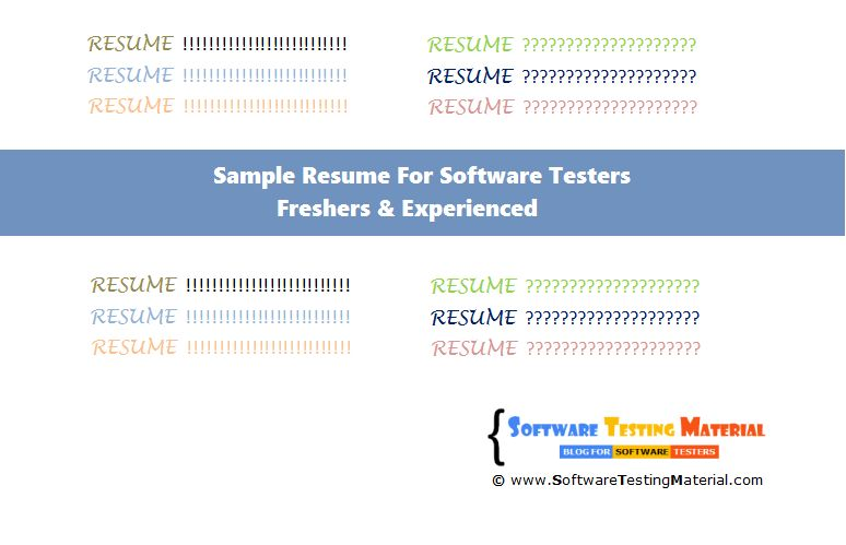 Sample Resume For Freshers Testing - Templates
